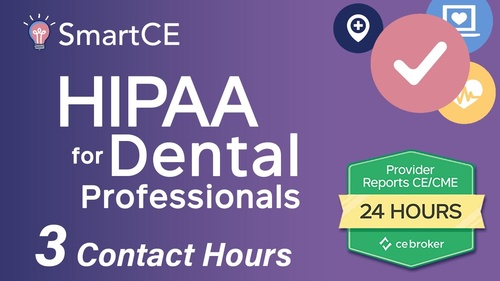 HIPAA for Dental Professionals - 3 Contact Hours /20-757532