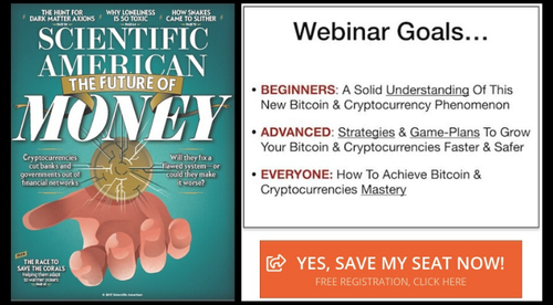 FREE Webinar: Discover The Potential Future Of Money In This Exclusive Bitcoin & Cryptocurrency Webinar