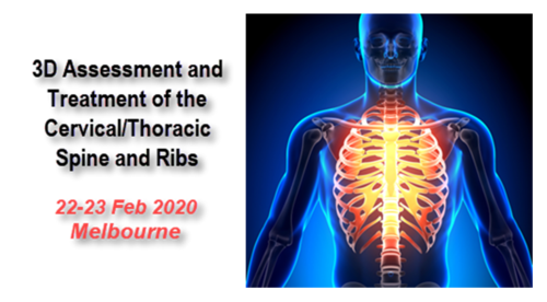 3D Assessment & Treatment of the Cervical Spine, Thoracic Spine and Ribs (Melbourne 17-18 Oct 2020)
