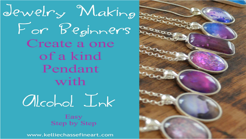 Alcohol Ink  Necklaces | Jewelry Making For Beginners
