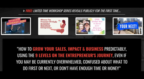 FREE MINI-COURSE: How To Grow Your Sales, Impact & Business Predictably, Using The 9 Levels On The Entrepreneur's Journey