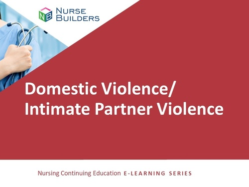 Domestic Violence/Intimate Partner Violence