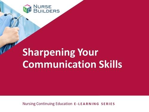 Sharpening Your Communication Skills