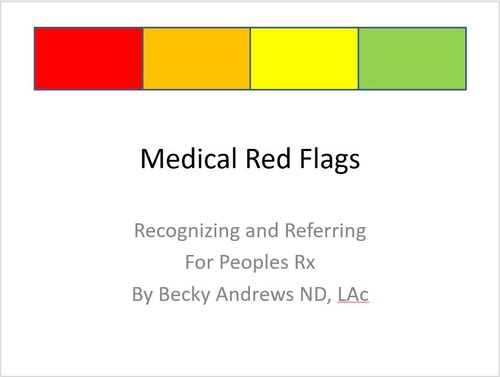 Medical Red Flags for Peoples Rx