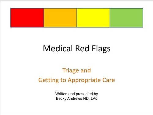 Recognizing Medical Red Flags