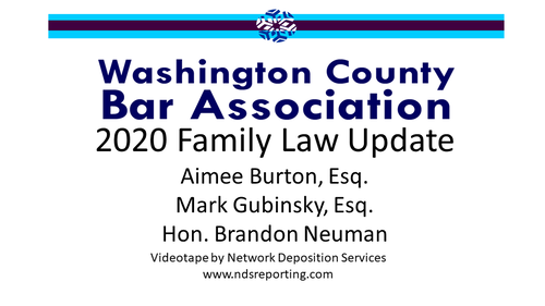 2020 Family Law Update (1 PA Substantive CLE Credit)