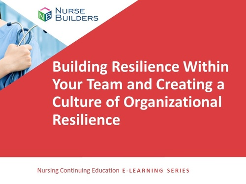 Building Resilience Within Your Team and Creating a Culture of Organizational Resilience