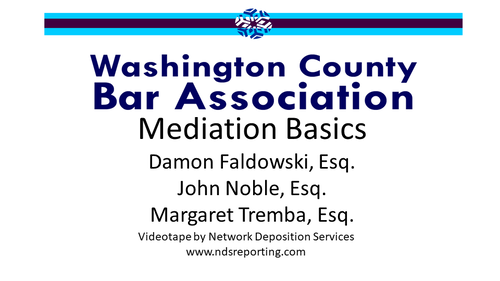 Mediation Basics (1 PA Substantive CLE Credit)