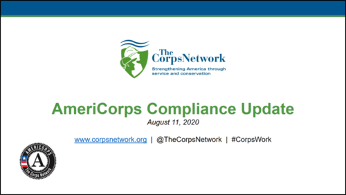 CNCS Compliance Updates Review - August 2020