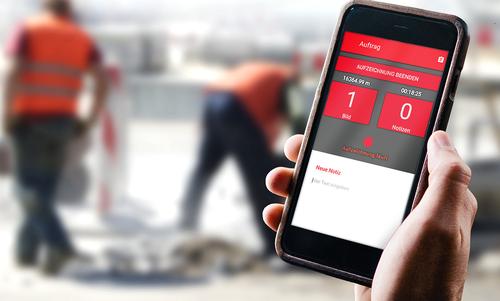 Die Baustellenkontroll-App