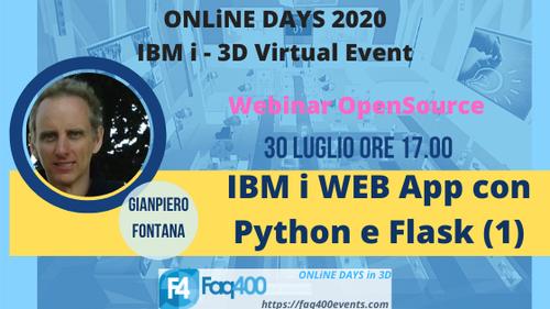 ONLiNE DAYS 2020 - Webinar Open Source -IBM i Web App con Python e Flask Parte1