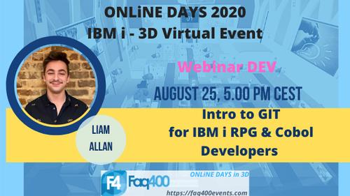 ONLiNE DAYS 2020 Webinar DEV - Intro to GIT - Liam Allan