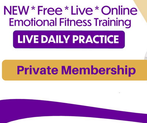 Daily Live Emotional Fitness Training from Your Couch