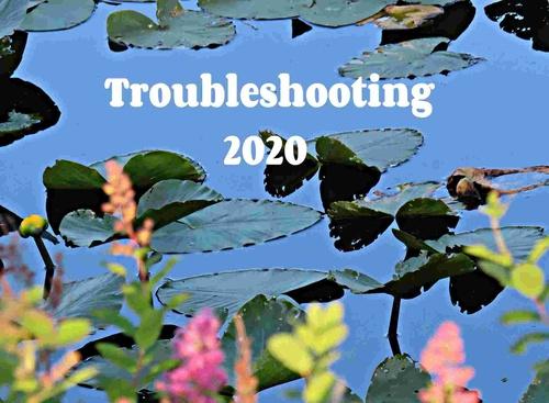 Troubleshooting 2020