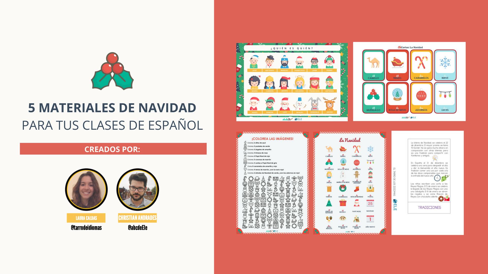 Pack de materiales de Navidad para tus clases de español