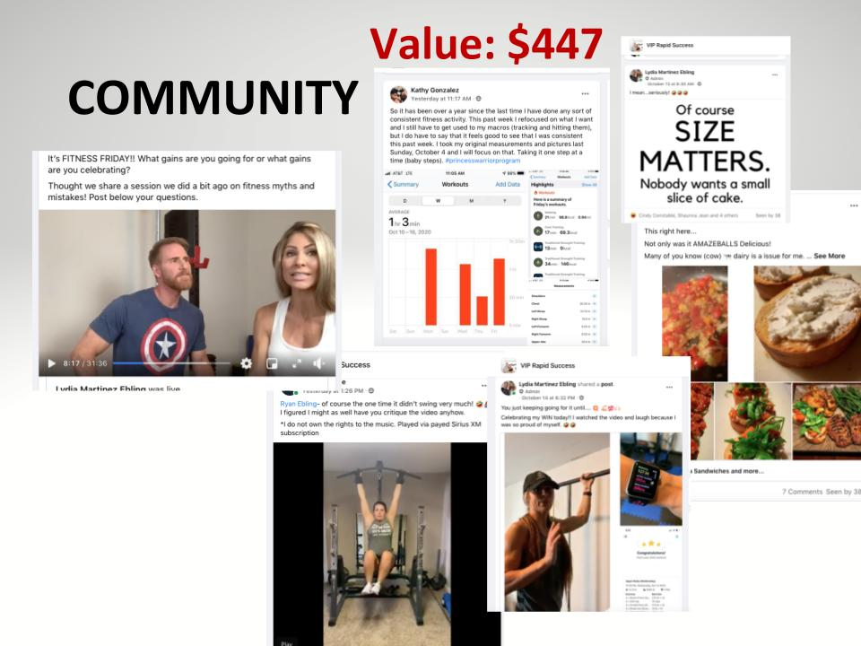 COMMUNITY VALUE $447