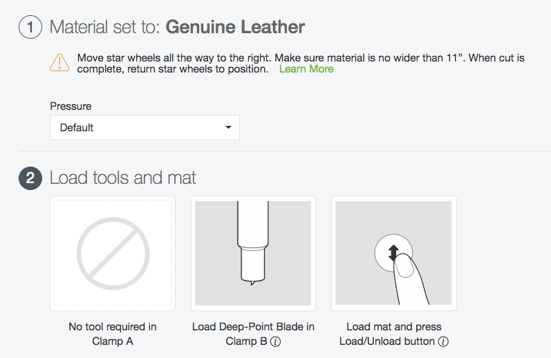 To cut genuine leather on the Cricut, use the Genuine Leather material setting.