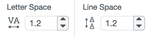 Letter and Line Spacing Tool Screenshot