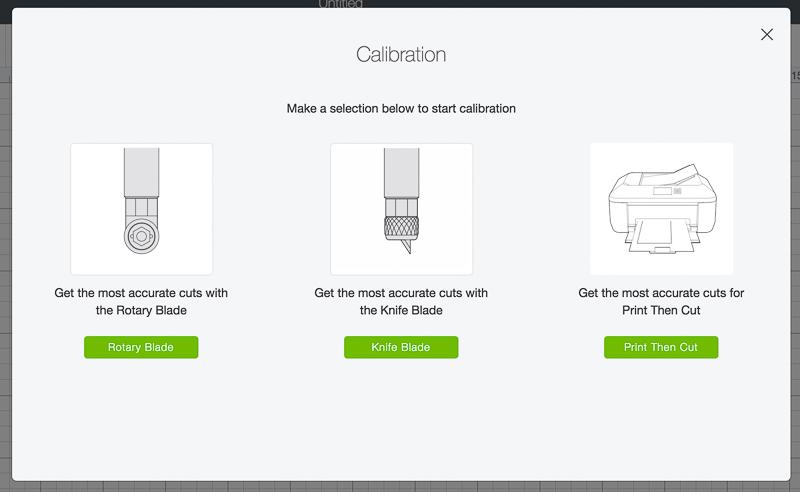 screenshot of how to calibrate your Cricut knife blade
