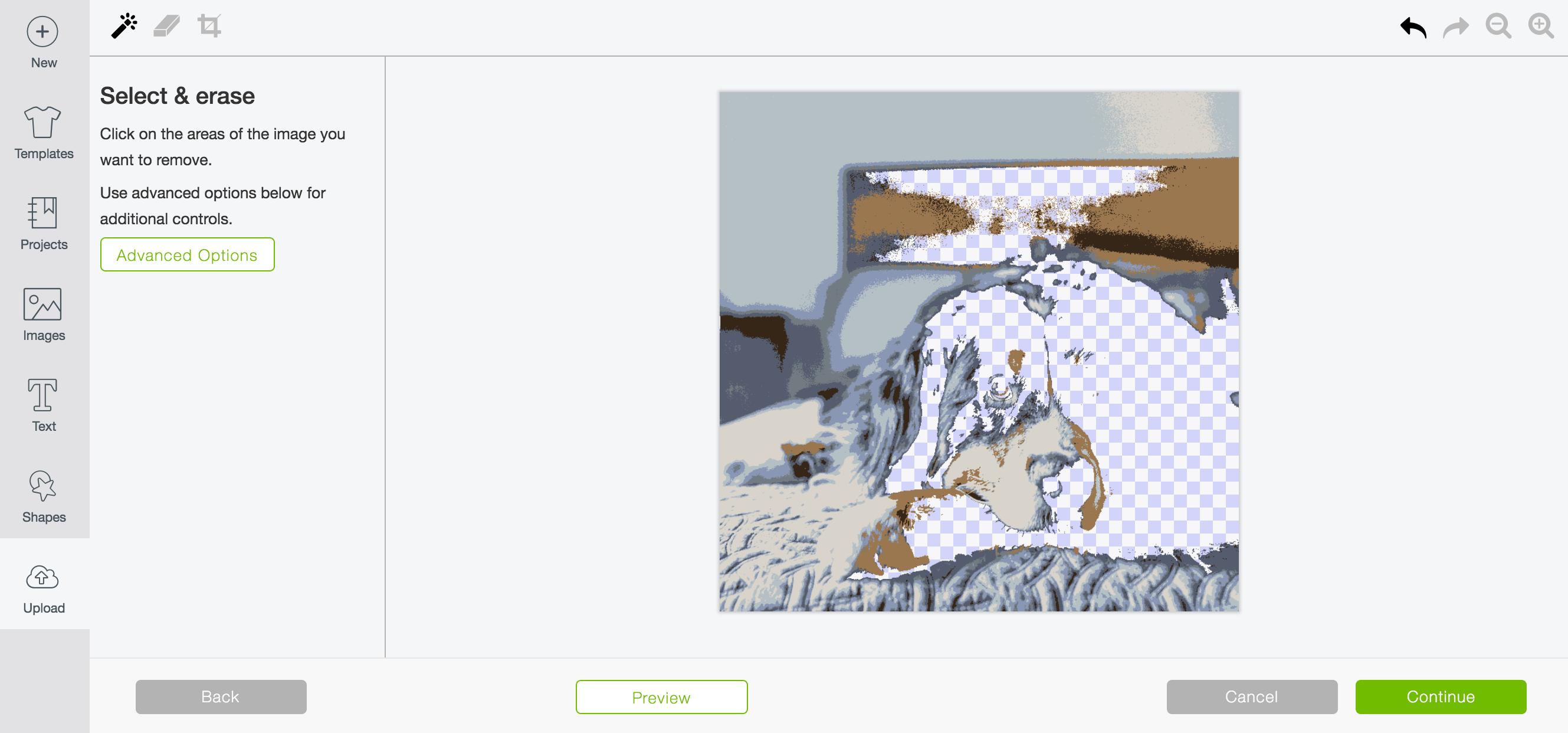 Select and erase Gunnar dog photo