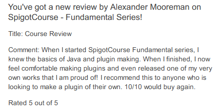 SpigotCourse | Learn to Code Minecraft Plugins