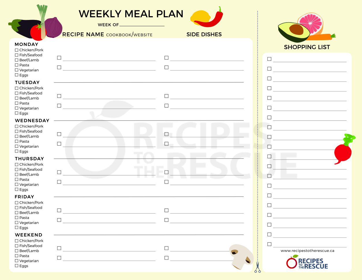 photograph regarding Printable Meal Planner called Supper Planner - Electronic Obtain