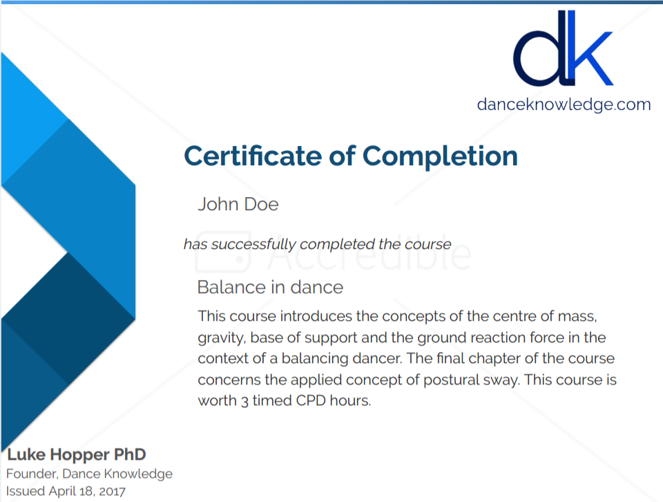 what is course completion certificate