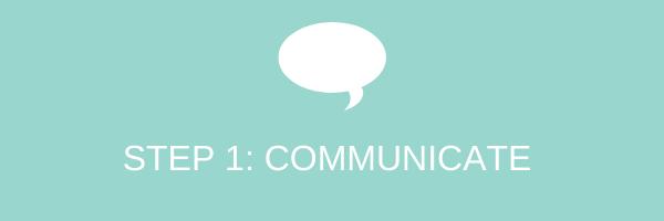 Step 1: communicate