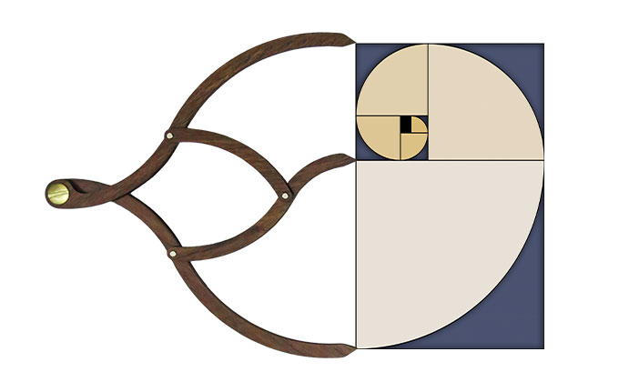 Proportioner 1.0 open shows its connection with golden rectangle