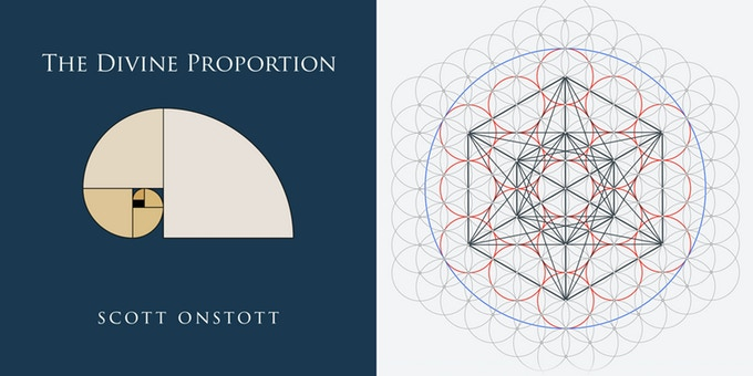 The Divine Proportion book cover (left) and Metatron's Cube symbolizing my Sacred Geometry course (right).
