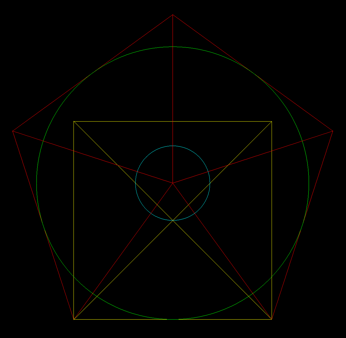 typical drawing in Q showing precise vector drawing