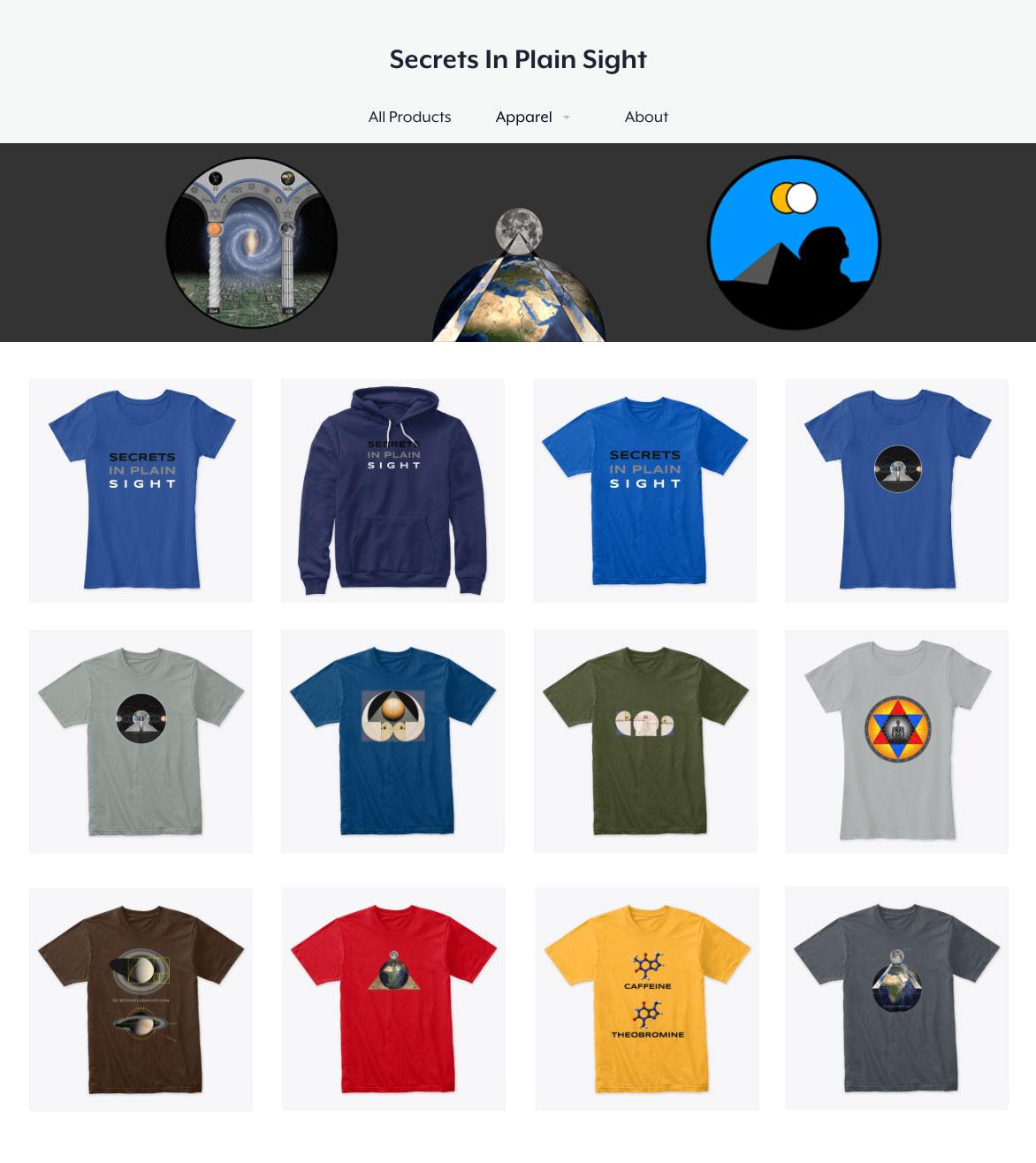 Scott's Teespring t-shirt thumbnails