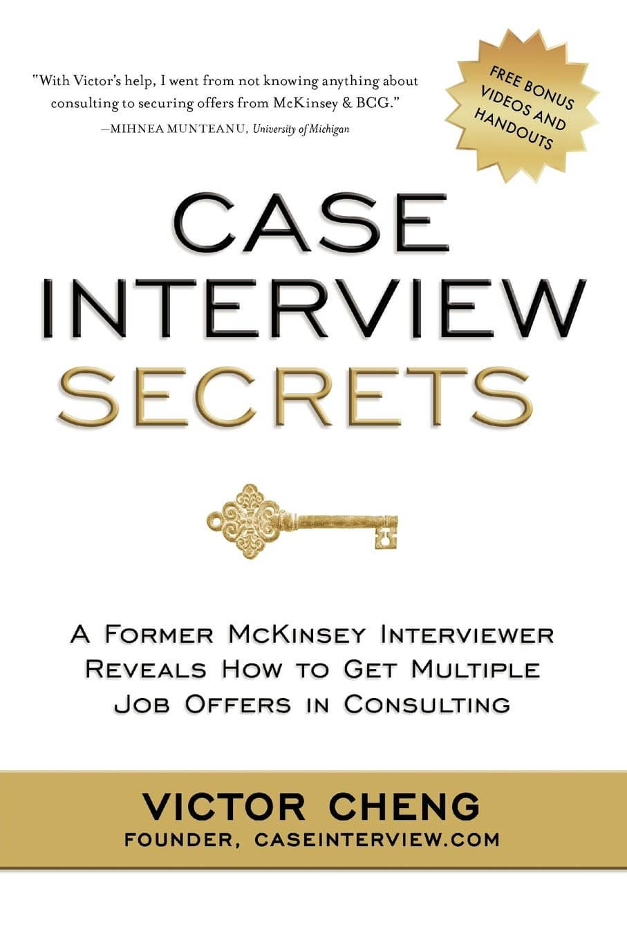 Case Interview Secrets Book Cover