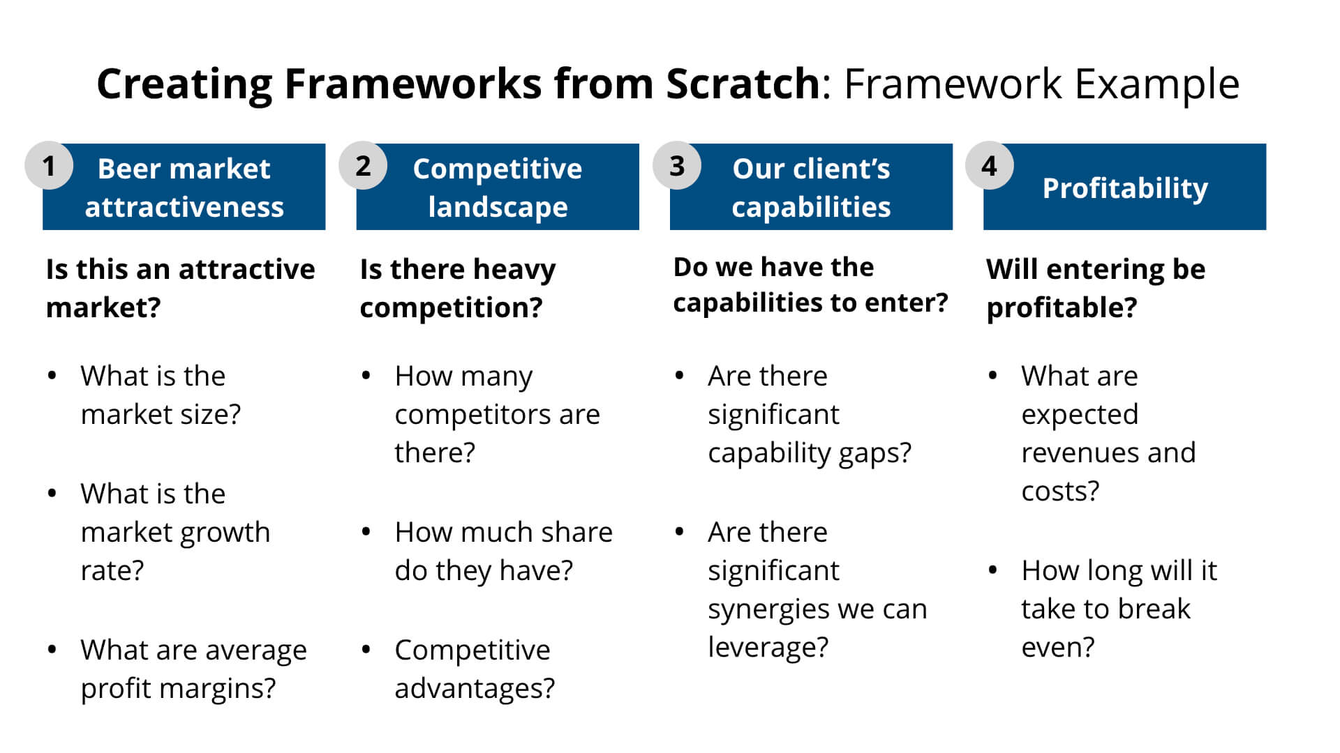 Creating Frameworks from Scratch: Framework Example