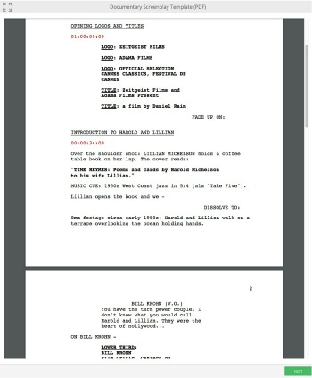 Documentary Scriptwriting Template  MiniCourse
