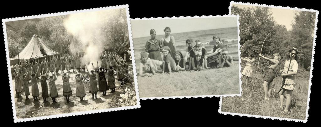 Vintage camp collage