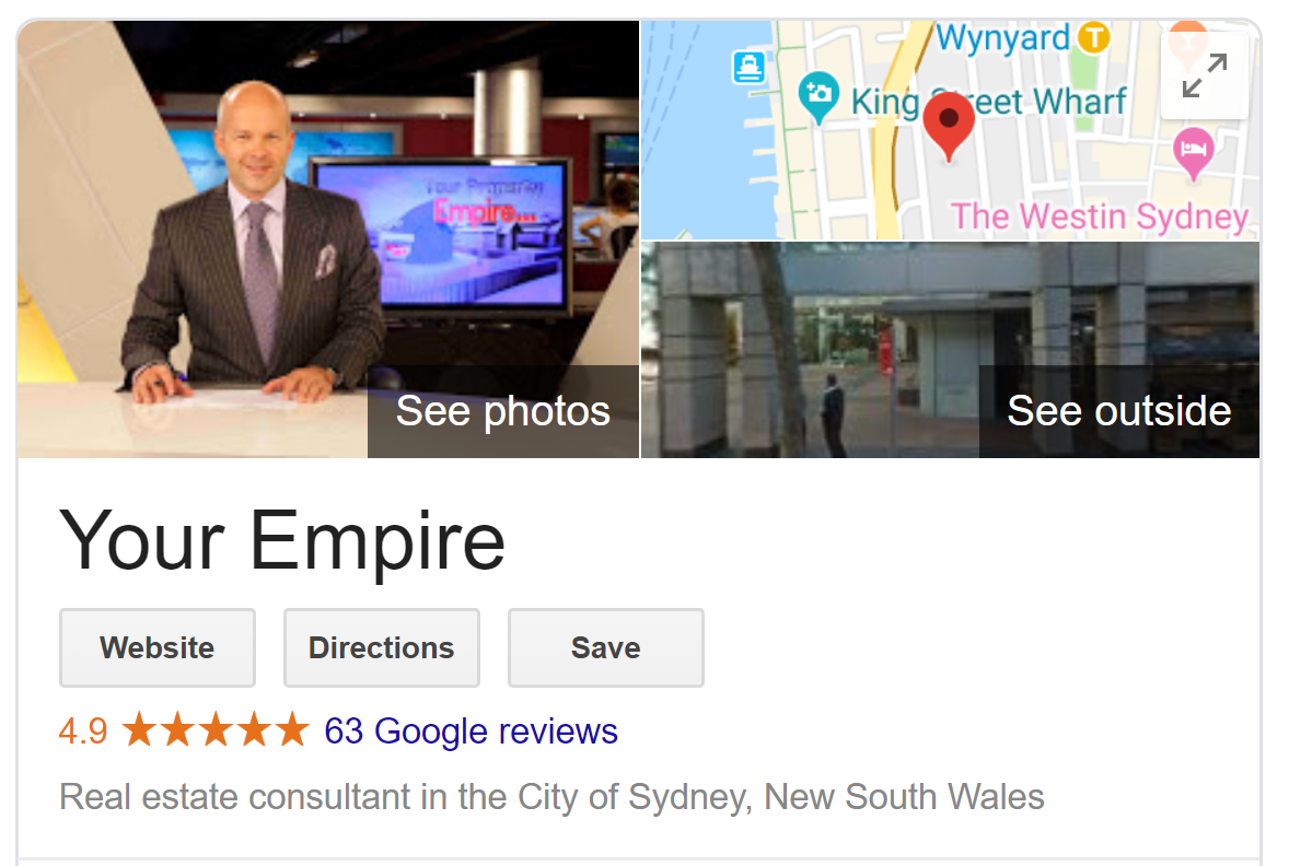 Your Empire - Google Reviews