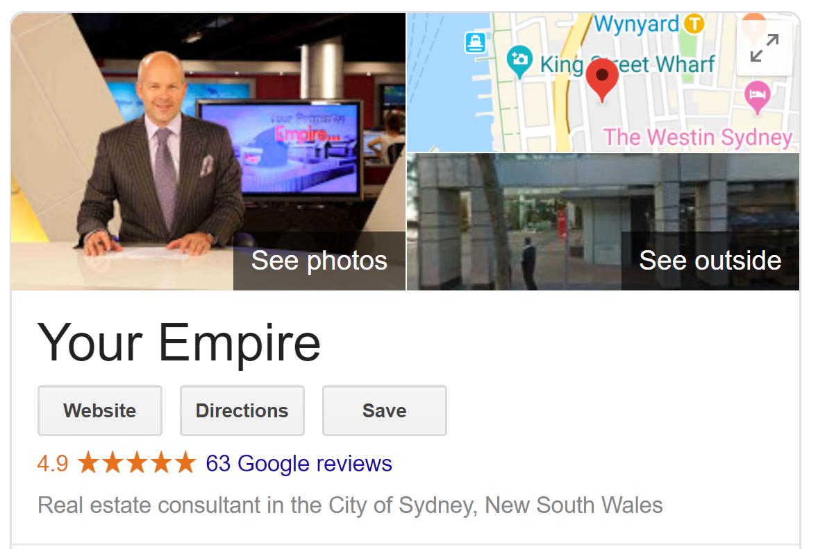 Your Empire - Google Reviews