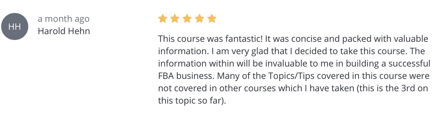 Master Amazon FBA Course review