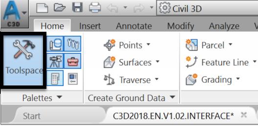 civil 3d tool space