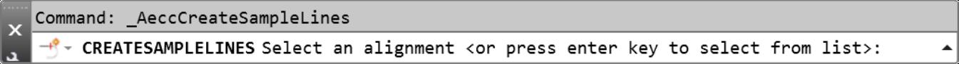 Civil 3D sample lines command line