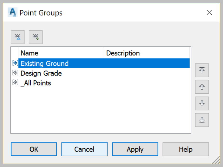 Surface by Point Groups selection