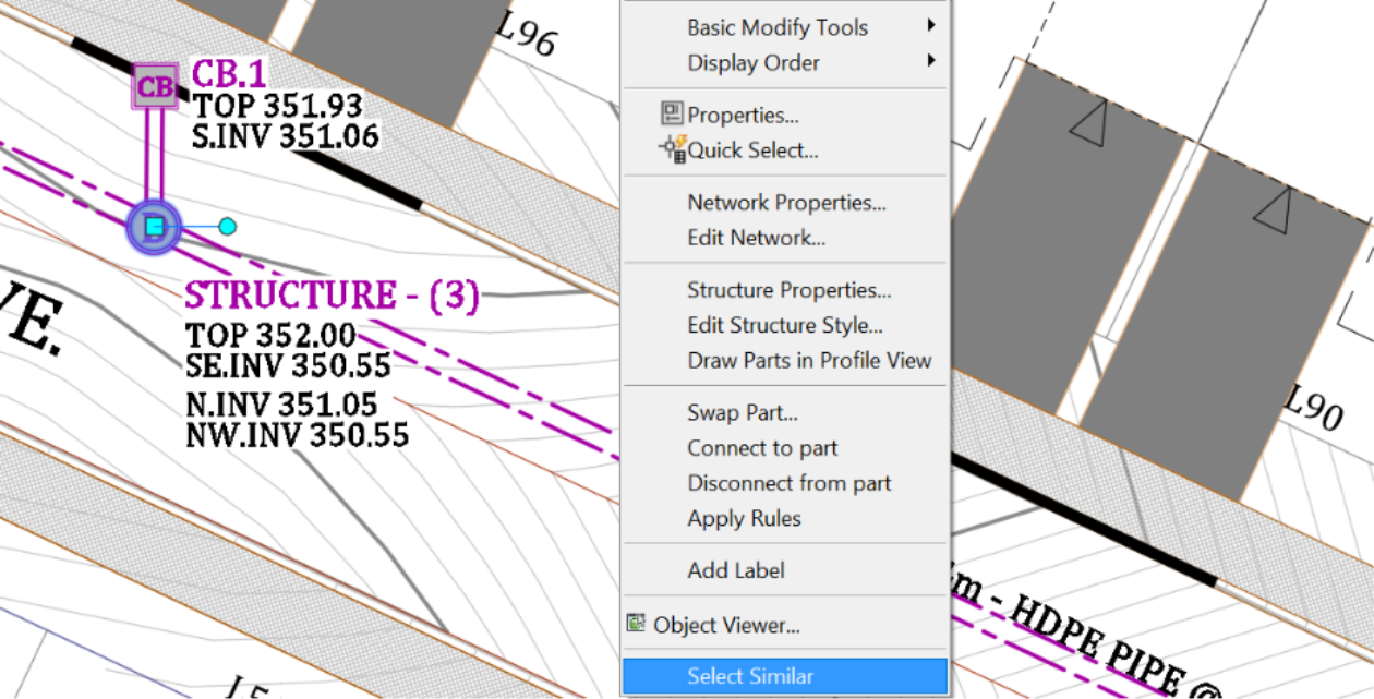 Rename Civil 3D Pipes and Structures selection
