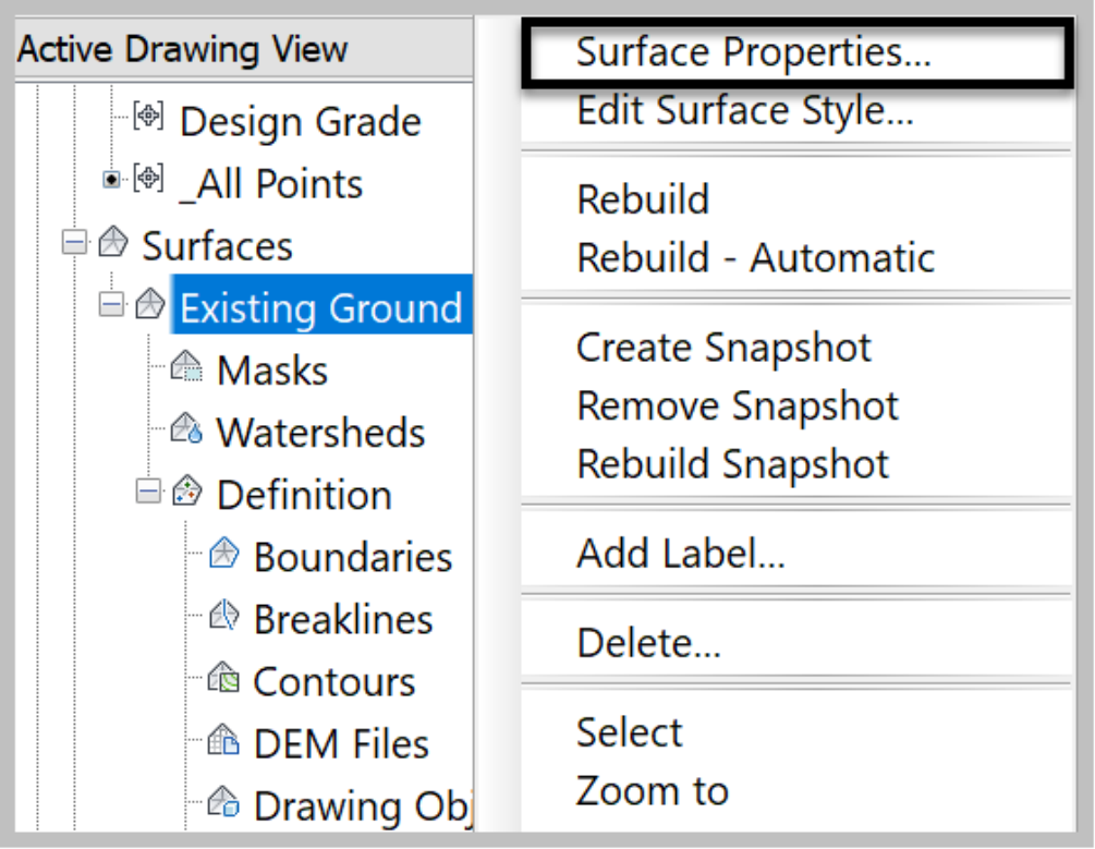 Surface by Point Groups