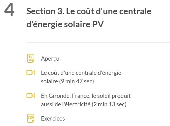 Cout de l'énergie solaire