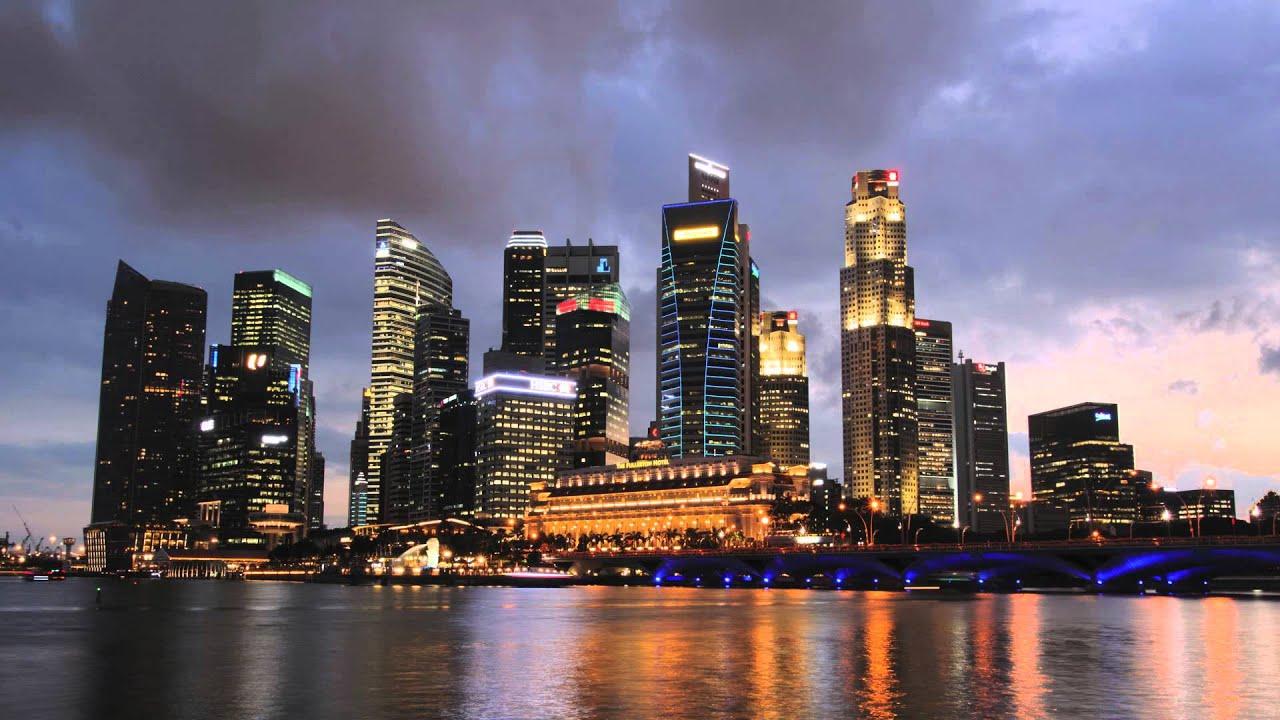 Singapore Skyline Time Lapse - YouTube