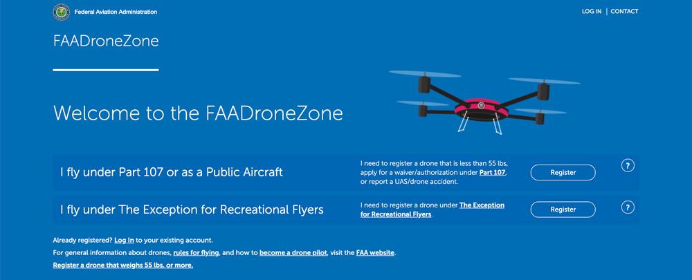 FAA DroneZone registration