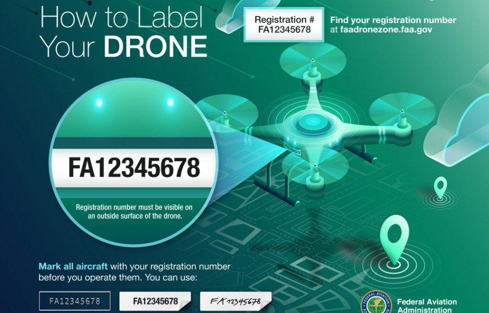 Marking drone registration