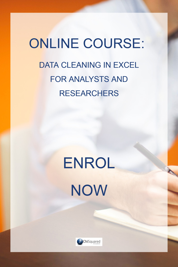 Turbocharge your data cleaning with this online course and stop wasting time. Enrol NOW!
