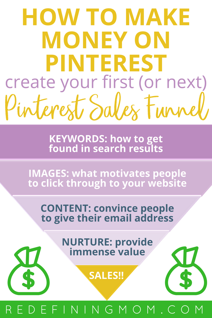 How to make money on Pinterest, create your first Pinterest sales funnel and put your Pinterest sales on autopilot. Get paid to pin on Pinterest. Work from home and make money online.